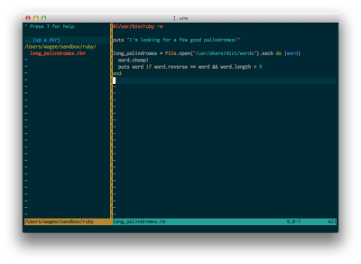 Solarized Vim Screenshot