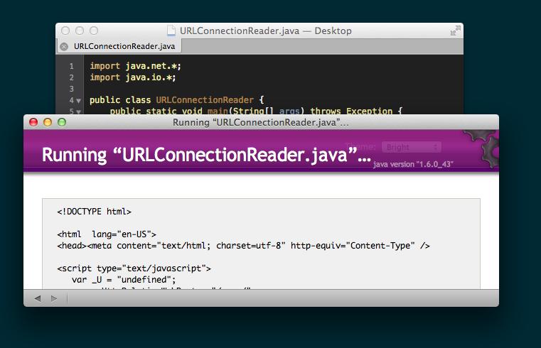 TextMate Java output