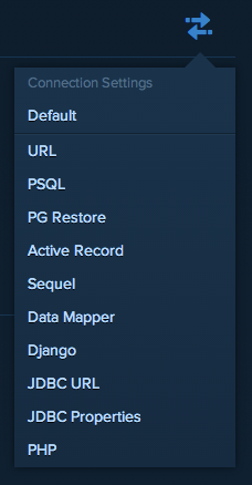 heroku postgres connection settings